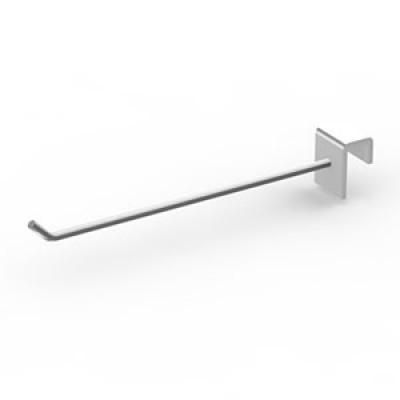 Крючок на прямоугольную трубу 100мм хром