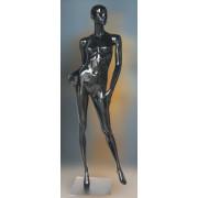 Манекен-кукла черный глянец женский, под заказ